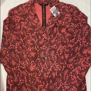 GILI wine/ burgundy tone lizard print blazer